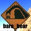 bare_bear: Caution sign showing a monster leaning over a cliff to eat a car (bare_bear)