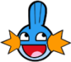pwassonne: The face of a Mudkip (Pokemon) with a wide smile (as in :D). (awesome mudkip)