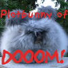 carmarthen: A super-fluffy bunny with only ears sticking out: Plotbunny of Dooom! (plotbunny)