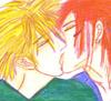 lilymoon: (reno and cloud kiss)