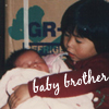 nova: my brother and I, when he was just born (sibling, me: family, me: childhood, me: baby brother)