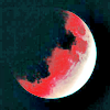 abitheliotrope: A luner eclipse; very pink.  (eclipse)
