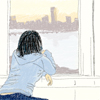 nova: drawing of me looking out my window (me: dream)