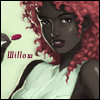 willow: Red haired, dark skinned, lollipop girl (Default)