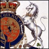 alex_beecroft: Crest of the order of the Garter with Unicorn supporter (coat of arms)