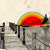 bossymarmalade: a rainbow over a pier (urban rainbows and fishing villages)