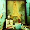 bossymarmalade: a small altar with rum (pour some rum and leave some sweets)