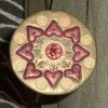 crafty_packrat: Heart design on whorl of a polymer clay spindle (Heart Spindle)