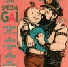 kindkit: Haddock and Tintin kissing; Haddock is in leather gear (Tintin: gay icon)