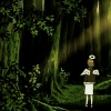 oneill: Haibane Renmei - Rakka stands at the edge of the forbidden Western Woods (西の森)