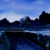 oneill: Haibane Renmei - A bridge in a deep blue, wintry light (橋)