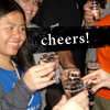 nova: me and others with shots (me: drinks, me: cheers, party)