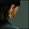 firefly99: Solid Snake from MGS2 standing away from the camera, so all that is visible is the very edge of his face and his hair. (MGS2 - Snake)