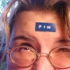 "firinel: Photo of me with a label reading ""Fin"" on my forehead. (labeled Fin)"