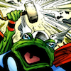 omens: the frog version of thor from pet avengers (frogthor)