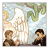 sabeth: Good Omens: Crowley and Aziraphale playing chess ([go] a game of you)