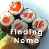 jamoche: Finding Nemo: sushi in the shape of a clownfish (sushi, nemo)