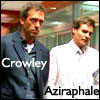 jamoche: crowley==house, aziraphale==wilson (crowley aziraphale  house)