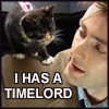 jamoche: DW Ten w/kitten: I has a Timelord (i has a timelord)