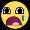 jame_alec: A sad yellow smiley face crying (D:)