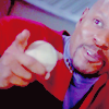 runawayskellum: Benjamin Sisko happy with a baseball (no YOU the man!)