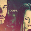"girlpearl: Will Turner and Elizabeth Swann with text ""Oops."" (oops)"