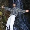 blimix: Joe leaning way out at a waterfall (waterfall)