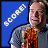 "girlpearl: Rodney McKay with ZPM looking delighted with text ""Score!"" (score!)"