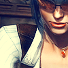 highways: [Lady from Devil May Cry, her expression serious, her eyes shielded by sunglasses.] (DEVIL MAY CRY ☌ to burn the eye)