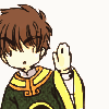 syntheid: [Card Captor Sakura] Syaoran Li simplified, waving slightly awkwardly (o hai thar)
