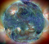 ext_23444: This is a multi-spectrum false-color image of the Sun. (perl globe)