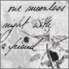 anatsuno: Viggo Mortensen's handwriting on snow: one moonless night with a friend... (delicate and friendly)