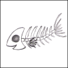 soc_puppet: Drawing of a smiling fish skeleton (Fishbone)