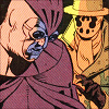 bonstrosity: Dan and Rorschach reaching for him (Watchmen - N&R)