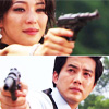 skygiants: Cha Song Joo and Lee Su Hyun from Capital Scandal taking aim at each other (baby shot you down)