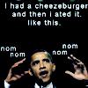 sola: (obamaburger)