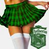 chokolattejedi: Photo of bottom half of girl in green plaid skirt, Slytherin crest in corner (HP - Slythy)
