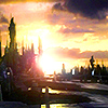 chokolattejedi: The sun rising over the Atlantis skyline from SGA (SGA - Sunrise)