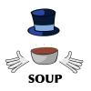 arjache: (soup, food, soup salesman)