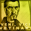 bethbethbeth: Lord Vetinari image from Discworld, with caption: Veni Vici Vetinari (Discworld Vetinari (alpheratz))