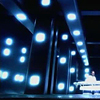 anatsuno: blue-ish lights in a near abstract still of a futuristic room (from BSG) (in space the lights are pretty)