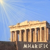 mharific: Greek temple with sunburst effect (greeks)