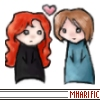 mharific: Red-haired and brown-haired dolls, with heart (westmark - zara/florian)