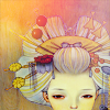 frozenflower: illustration of an oiran (oiran) (Default)