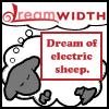 "kate_nepveu: Dreamwidth logo over dreaming sheep, text: ""Dream of electric sheep"" (electric sheep, Dreamwidth)"