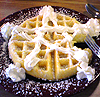 kelliem: waffle with a whipped cream star (waffle)
