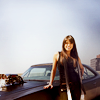 letty_o: leaning against her car (letty & her baby)
