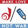 scrollgirl: dw/lj; text: make love not war (misc dreamwidth/livejournal)