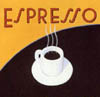 espresso_addict: Cup of steaming espresso with text 'Espresso' (espresso)