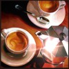 espresso_addict: Two cups of espresso with star effect on coffee pot (coffee cups)